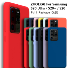 ZUOEKAI S20 Ultra  Case FOR Samsung Galaxy S20 Plus Silky Silicone Cover High Quality Soft Touch Back Protective Galaxy S20+