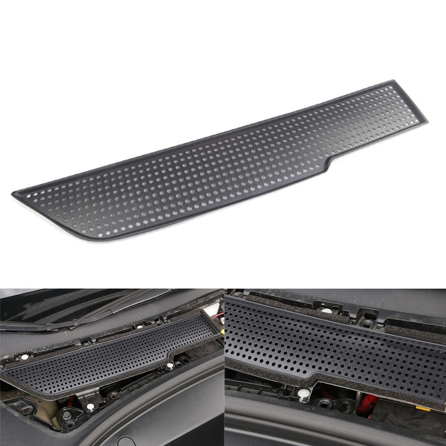 Cubierta decorativa de protección de aire del coche con ventilación antibloqueo para el modelo Tesla 3 2017 ~ 2019