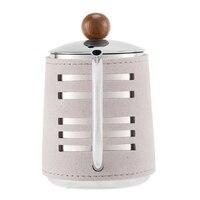 500ML Edelstahl Handleless Anti Heißen Kaffee Topf Tropf Wasserkocher Kaffee Maker mit Schwanenhals Auslauf Kaffee Tee Topf-in Kaffeepott aus Heim und Garten bei