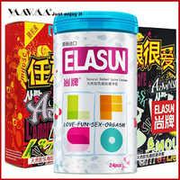 Elasun 50 шт удобный свежий Смазывающий презерватив для мужчин ультра тонкий лед и огонь латексные точки удовольствие, взрослый секс Сейф для п...