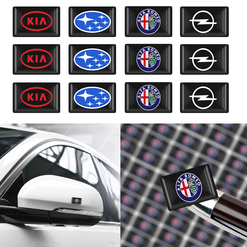 Car Styling 10PCS Decorative Car Stickers Emblem Badge Wheel Decal For Nissan BMW Audi Mercedes Ford KIA Opel Toyota Skoda Fiat