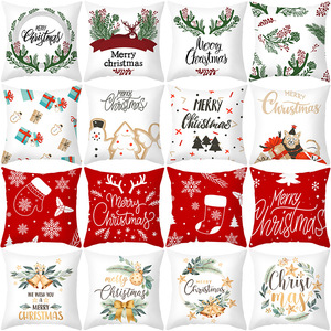 Christmas Polyester Cushion Cover Sofa Cushions Plant Throw Pillow Christmas Decorations For Home Xmas Decoration Natale 2020