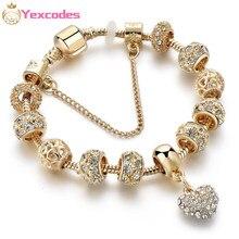 Yexcodes Doré Amour Charme Charme Dame Bracelet Mode BRICOLAGE Serpent Os Chaîne Marque Bracelet Cadeau Livraison Directe