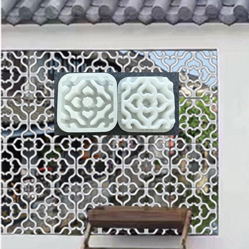 Cement Antique Brick Mold Square Garden Wall Making Brick Mould 3D Carving Anti-Slip Concrete Plastic Paving Molds 30x30x6cm