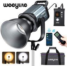 Weeylite ninja400 150w 2500-8500k bi-color led luz de vídeo aplicativo de controle bowens montagem para estúdio fotografia vídeo retrato ao vivo