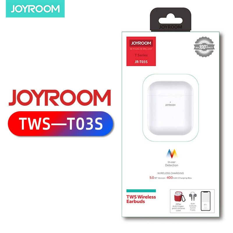 Joyroom T03s Bluetooth Earphone Stereo Sport Earbud Wireless Bluetooth 5.0 Earphone In-ear Headsets With Mic For All Smart Phone