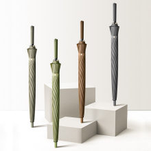 Heißer Verkauf Langen Griff Große Business Regenschirm Hohe Qualität 24K Starke Winddicht Glasfaser Sonnenschirm Outdoor-aktivitäten Golf Regenschirm