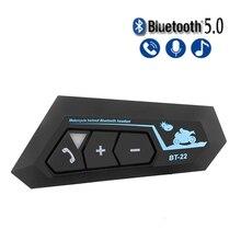 Bluetooth 5.0 Motor Helm Headset Draadloze Handsfree Stereo Oortelefoon Motorhelm Hoofdtelefoon MP3 Speaker Intercom Headset