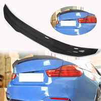 Real Carbon Fiber Car Spoiler Wings Trunk Lid PSM Style High Kick Boot Wing Spoiler for BMW F82 M4 2 Door 2015 2019 Car styling|Spoilers & Wings|   -