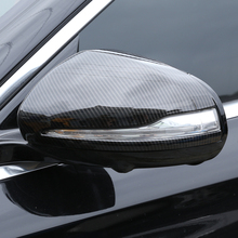 2pcs Carbon Fiber Side Rearview Mirror Cap Cover Trim for Mercedes Benz C E S GLC Class W205 W213 ABS Plastic Car Accessories lapetus car steering wheel cover trim matte carbon fiber style for mercedes benz e class w213 c class glc 2016 2019