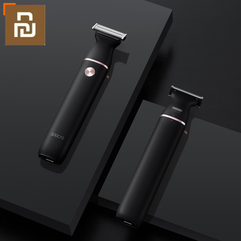 SOOCAS Electric Razor Small T-Blade Black Three-way Blade Fast Shaving Charge Dry and Wet Double Shaving Shaver For Men