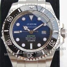 Marca de luxo relógio mecânico automático para os relógios masculinos gmt 44mm vidro safira luminoso profundo aço inoxidável mar