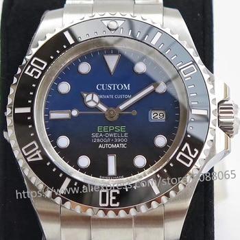 цена luxury brand automatic mechanical watch for the Men's watches men GMT 44mm sapphire glass Luminous deep Stainless steel sea онлайн в 2017 году