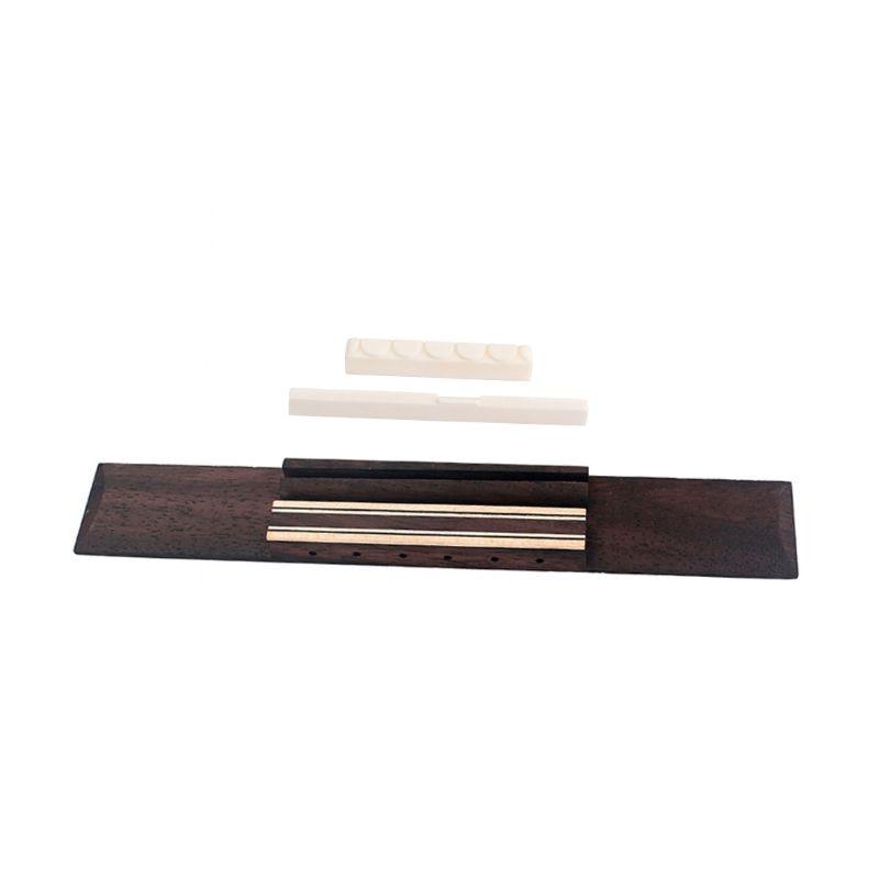 1 Set Rosewood Bridge With Bone Saddle Nut Kit For Classical Guitar Replacement Tool