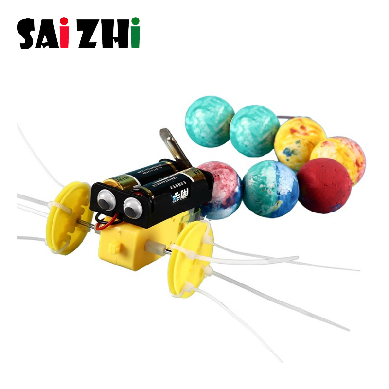 Saizhi Funny DIY Kids Science Experiment Toy Robot Reptile Model Construction Kit Invention STEM Education School Project Kits