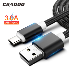 Get more info on the CBAOOO 1 m 2 m 3 m USB C type USB data cable 3A fast lifting type -C Kabel voor  S9 S10 Plus USB C millet