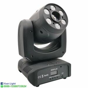 Image 3 - Projecteur de lumière à tête mobile 100W LED avec faisceau de lavage, Cree 4 en 1, 6 pièces de lumière pour Disco DJ lampe à LED
