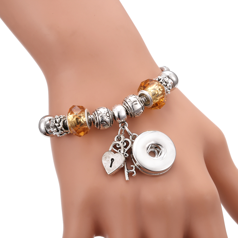 New Snap Bracelets for Women Tree of Life Metal Snap Button Bracelet Bangle Fit 18MM Snap Jewelry Bracelets Beads Making Jewelry 1