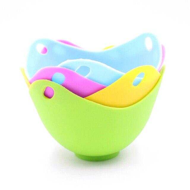 1 PC jajo silikonowe kłusownictwo strąki jajko formy miska pierścienie kuchenka kocioł gotowane twarde jajko kuchnia narzędzia kuchenne naleśnikarka jajka