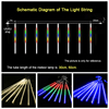 LED 8 Tubes Waterproof Meteor Shower Garland Christmas Decoration for Home Outdoor String Lights As Party Garden Holiday Lights promo