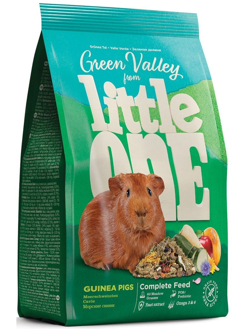 Little One Green Valley Food For Marine свинок, Grass, 750g.