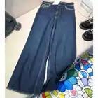 Высокое качество, повседневные винтажные Эластичные Обтягивающие зимние джинсы, женские узкие брюки с карманами, женские осенние длинные д... - 1