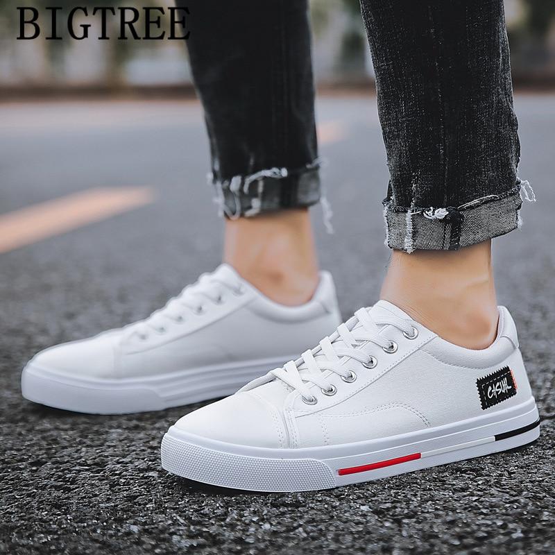 White Canvas Shoes Men Black Designer
