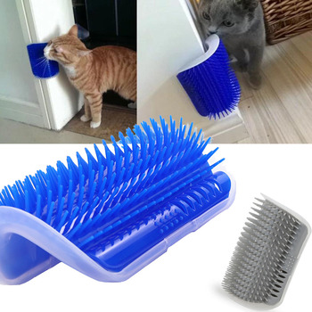 Cat Self Groomer Brush Pet Grooming Supplies Hair Removal Comb for Cat Dog Hair Shedding Trimming Cat Massage Device with catnip Cat Grooming