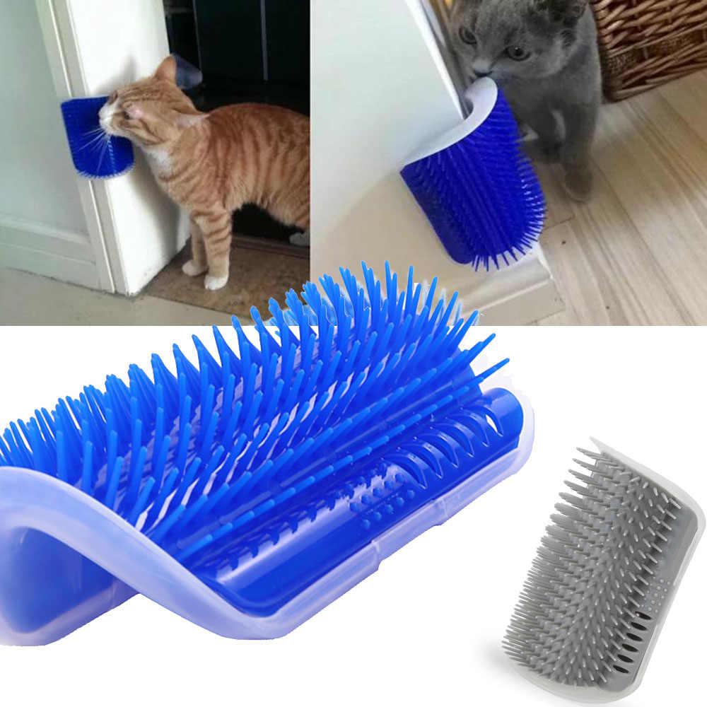고양이 자기 groomer 브러시 애완 동물 미용 용품 헤어 제거 빗 고양이 개 머리 흘리기 트리밍 고양이 마사지 장치 catnip