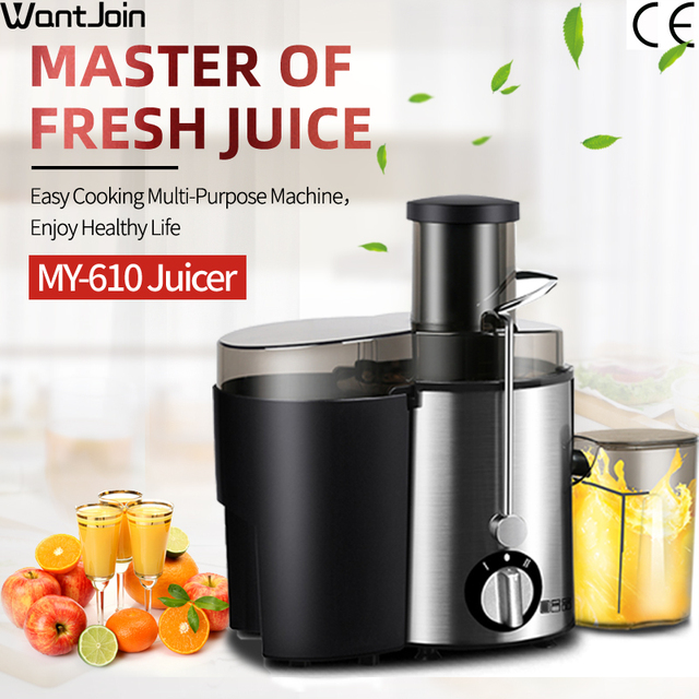 Wantjoin Manual Juice Extractor Ce Round Stainless Juicing Machine Lemon Juicer For Apples Single Auger Electric Juicers Orange 1