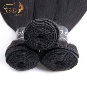 Image 5 - JSDShine ブラジル毛織りバンドルストレート人間の髪 3 バンドル 100 グラム/ピース自然な色非レミー毛延長