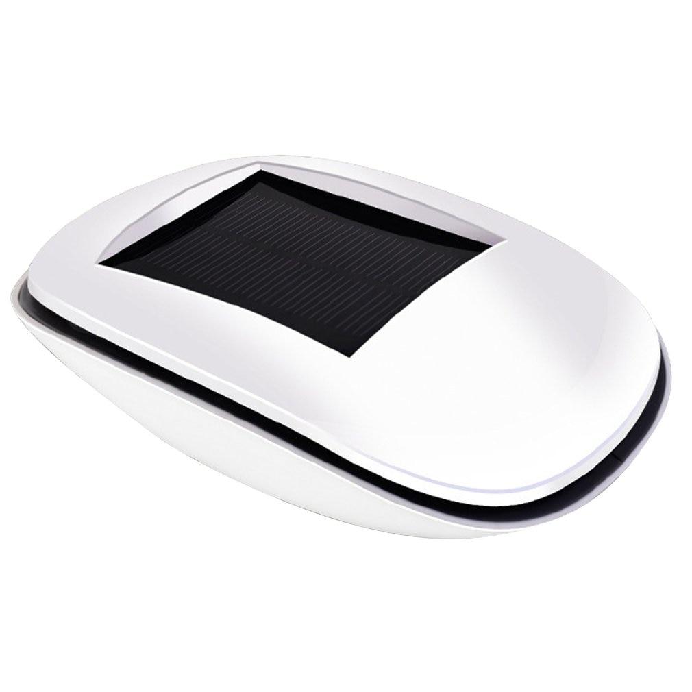 Car Solar Powered Charging Air Purifier USB Vehicle Air Ionizer Fresh Negative Ion Ozone Ozonizer Odor Eliminator