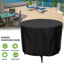Outdoor Garden Furniture Rain Cover Black Furniture Table Chair Set Waterproof Cover Round Sofa Garden Patio Rain Dust Covers cheap CN(Origin) Modern 100 Polyester S65500307 polyester fiber (polyester) + bottom waterproof silver coated 128*71cm outside black inside silver