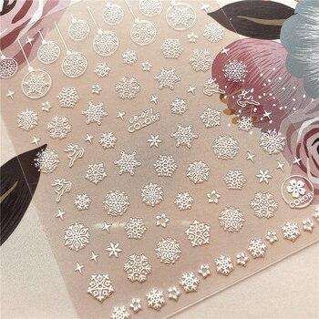CB-065-066-067 Christmas snow flake Snowman 3D Back glue Nail decal Nail sticker Nail decoration Nail art Nail tool Nail ornamen