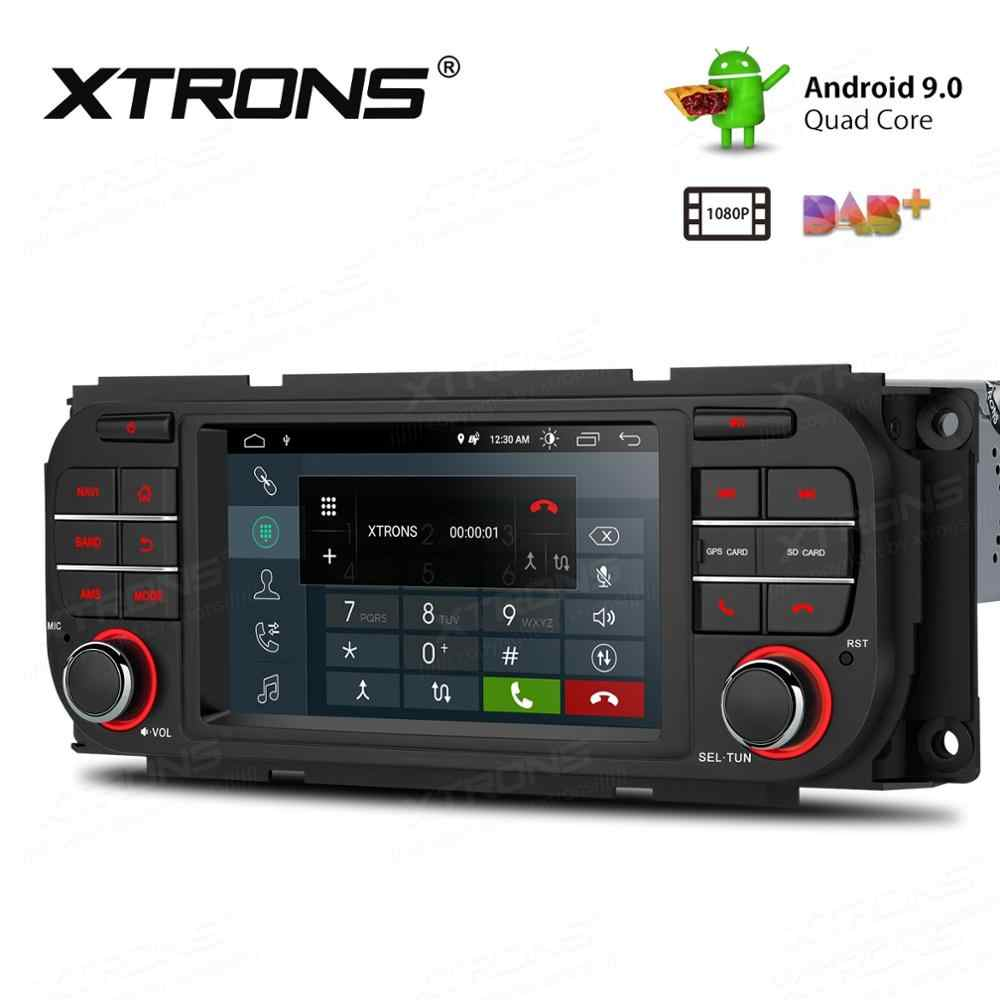 "5 ""Android 9.0 OS Mobil Multimedia GPS Radio untuk Jeep Liberty 2002-2007 & Jeep Wrangler 2003- 2006 & Jeep Grand Cherokee 1999-2004"