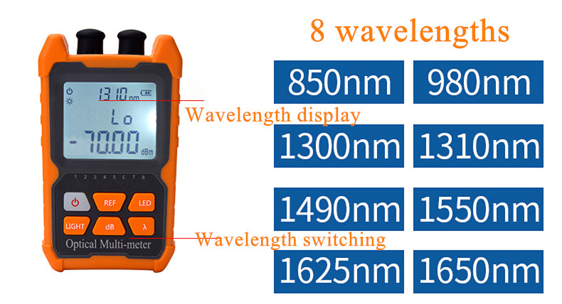 Mini 4 in1Multifunction Optical PowerNC NT  Meter Visual Fault Locator Network Cable Test optical fiber tester 5km 15km  VFL