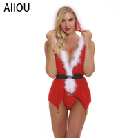 AIIOU Christmas Gift Lingerie for Women Intimate Bodysuit Temptation Sexy Cute Lingerie Lace Babydoll Thong Nightwear Costumes