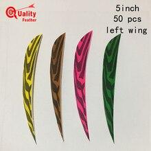 JINYUQI  Water Drop Zebra print 50pcs 5 Turkey Feather Cut Arrow Fletching Hunting Shooting Diy Accessories
