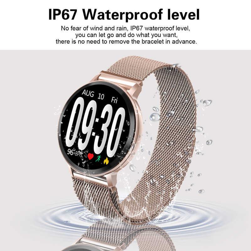 2019 LIGE 新規スマート腕時計女性心拍数血圧健康モニターブレスレット歩数計フィットネストラッカースポーツスマートウォッチ男性
