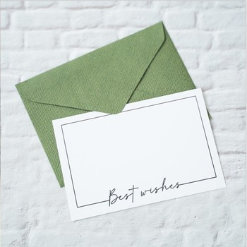1pcs/pack Best Wishes Greete True Invitation Card love you wedding card Thank you card image