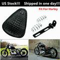 Седло мотоцикла кожаное сиденье поплавок мотоцикл Solo сиденья пружины Кронштейн монтажный комплект для Harley Sportster XL поплавок чоппер