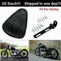 Motorrad Sattel Sitz Leder Bobber Motorrad Solo Sitz Federn Halterung Montage Kit Für Harley Sportster XL Bobber Chopper
