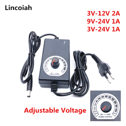 3V-12V 3V-24V 9V-24V Adjustable Adapter With Display Of Voltage DC 5.5x2.1/2.5mm Power Supply EU Plug 3 12 24 v Charger