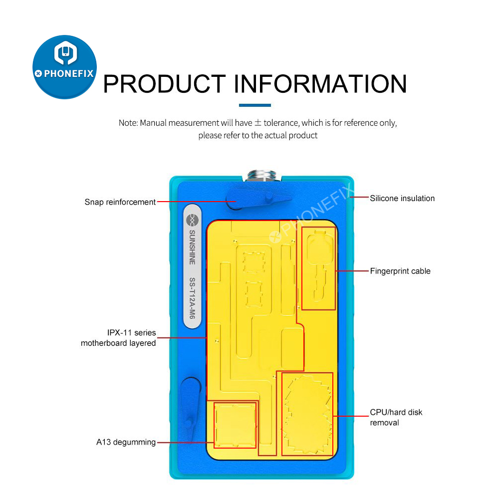 Heating M6 Layered Motherboard BGA Pre Station Glue IPhone CPU Station PCB NAND Desoldering Platform Removing SST12A Heating For