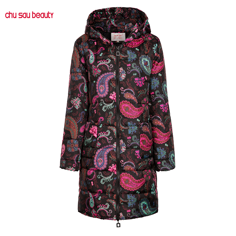 2019 NEW long Winter Female Jacket High Quality Women Fashion Jackets Winter Warm Woman Clothing Casual   Parkas   Down Cotton C1916