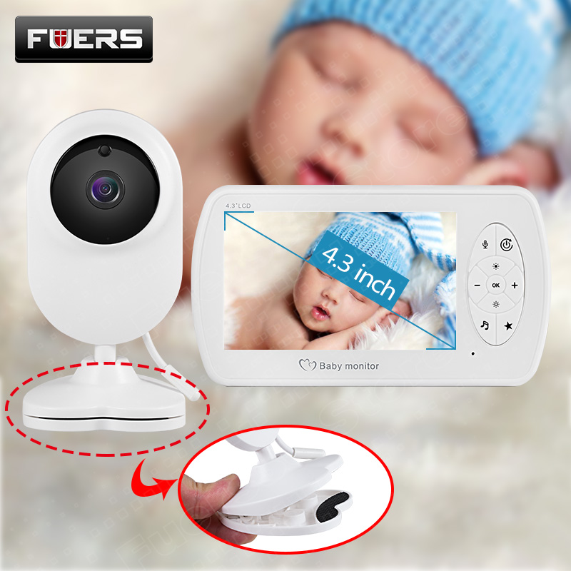 Wireless Video Color Baby Monitor With 4.3 Inch LCD Baby Camera With Clamp Night Vision Surveillance Security Camera Babysitter