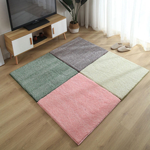 2Pcs Antislip Floor Carpet Soft Velvet Puzzle Mat Colorful Baby Crawling Mats Decorative Area Rugs For Living Room Bedroom Decor