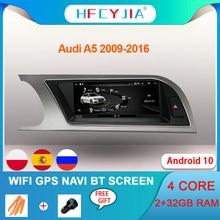 Android 10 sistema GPS para coche Navi pantalla para Audi A5 2009-2016 IPS Touch 2 + 32G RAM WIFI Google Carplay BT Multimedia ESTÉREO