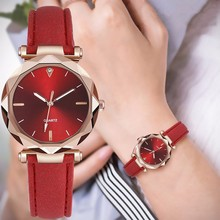 купить Luxury Fashion Quartz Wacth Women Leather Strap Simple Women Watches Dress Ladies Wrist Watch Clock Bracelet Montre Femme дешево