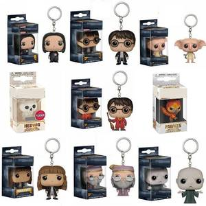 Model-Toys Keychain Dobby-Collection Hedwig Dumbledore Action Hermion Harri Potter Voldemort